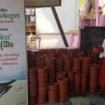 Sreeman distributing free earthen pots